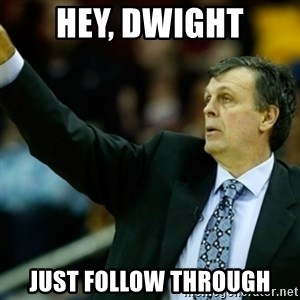 Kevin McFail Meme - Hey, Dwight Just follow through
