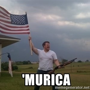 american flag shotgun guy -   'murica