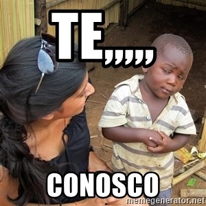 Skeptical African Child - te,,,,, conosco