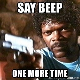 Pulp Fiction - say beep one more time