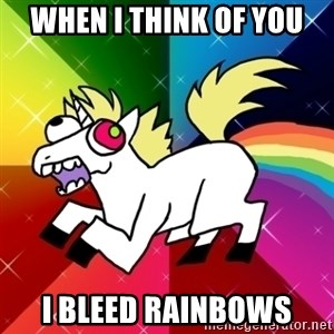 Lovely Derpy RP Unicorn - When I think of you I bleed rainbows
