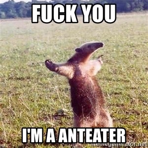 Anteater - FUCK YOU I'M A ANTEATER