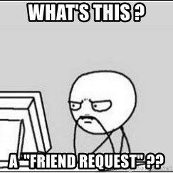 "computer guy - What's this ? A  ""friend request"" ??"