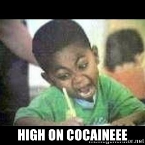 Black kid coloring -  high on cocaineee