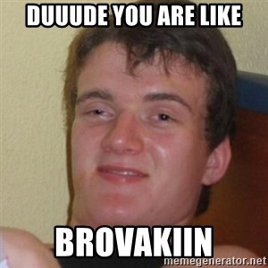 Stoner Stanley - Duuude you are like Brovakiin