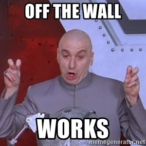 Dr. Evil Air Quotes - Off the wall Works