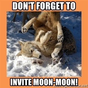 Moon Moon - DON'T FORGET TO INVITE MOON-MOON!