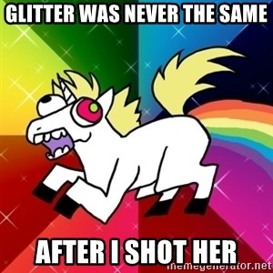 Lovely Derpy RP Unicorn - glitter was never the same after I shot her