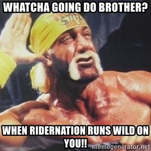 Hulk Hogan can't hear you - Whatcha going do Brother? When Ridernation runs wild on you!!