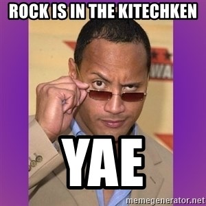 The Rock Cooking - rock is in the kitechken yae