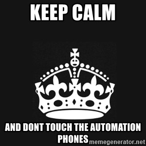 Black Keep Calm Crown - keep calm and dont touch the automation phones