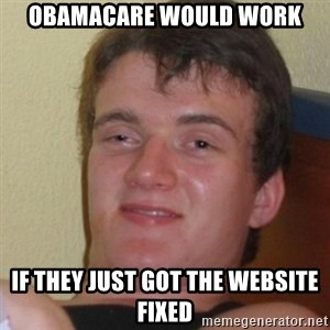 Stoner Stanley - obamacare would work if they just got the website fixed