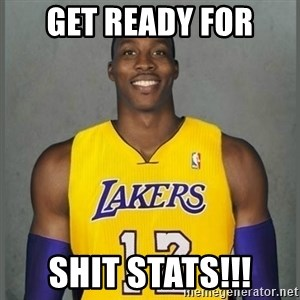 Dwight Howard Lakers - Get ready for SHIT stats!!!