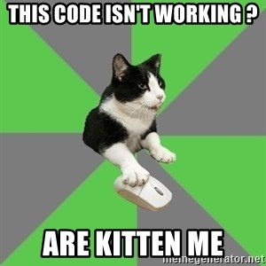 roleplayercat - This code isn't working ? are kitten me