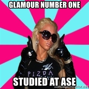 Glamour Girl - glamour number one Studied at ASE
