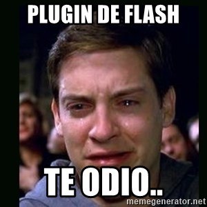 crying peter parker - plugin de flash te odio..