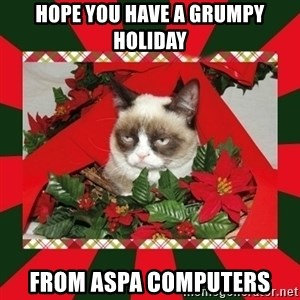 GRUMPY CAT ON CHRISTMAS - Hope you have a Grumpy Holiday from Aspa Computers