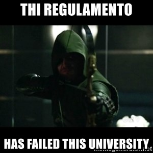 YOU HAVE FAILED THIS CITY - THI REGULAMENTO HAS FAILED THIS UNIVERSITY