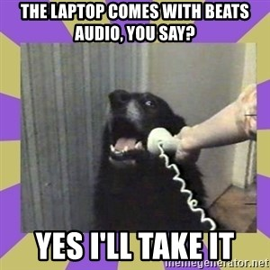 Yes, this is dog! - the laptop comes with beats audio, you say? yes i'll take it