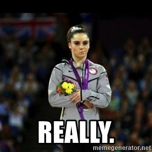 Unimpressed McKayla Maroney -  Really.