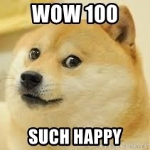 dogeee - WOW 100  SUCH HAPPY