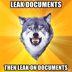 Courage Wolf - leak documents then leak on documents