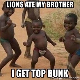 african children dancing - lions ate my brother  i get top bunk