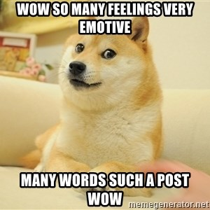 so doge - wow so many feelings very emotive many words such a post wow