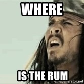 Jack Sparrow Reaction - WHERE  IS THE RUM