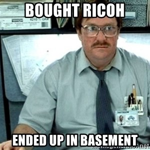 Milton Office Space - bought ricoh ended up in basement