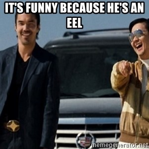 Mr Chow Funny eel - It's funny because he's an eel