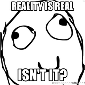 Derp meme - reality is real isn't it?
