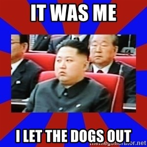 kim jong un - It was me I let the dogs out