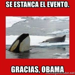 Thanks Obama! - Se estanca el evento. Gracias, obama
