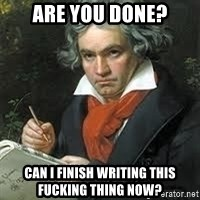 beethoven - aRE YOU DONE? cAN I FINISH WRITING THIS FUCKING THING NOW?