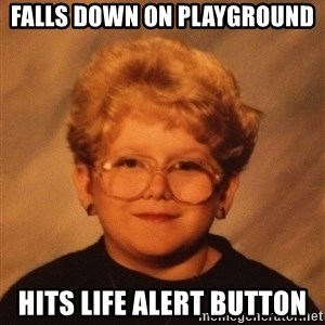 60 Year-Old Girl - Falls down on playground Hits life alert button