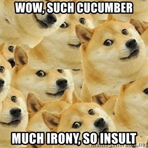 so dogeee - wow, such cucumber much irony, so insult