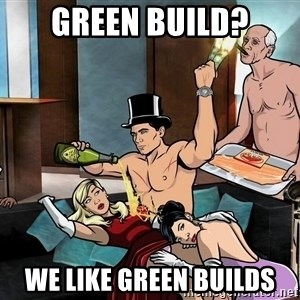 Archers party - Green build? We like green builds