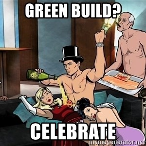 Archers party - Green build? Celebrate