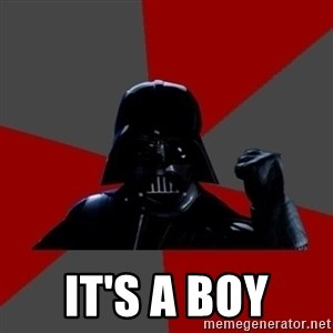 Vadermemes -  It's a boy