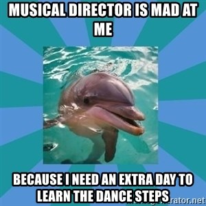 Dyscalculic Dolphin - musical director is mad at me because i need an extra day to learn the dance steps