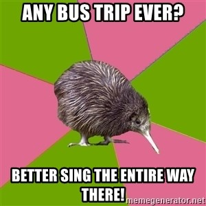 Choir Kiwi - Any bus trip ever? Better sing the entire way there!