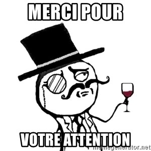Gentleman with wine - Merci pour  votre attention