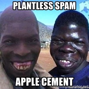 feo3 - plantless spam apple cement