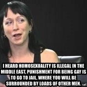 Dumb attention whore Cleo Catra -  I heard homosexuality is illegal in the Middle East, punishment for being gay is to go to jail, where you will be surrounded by loads of other men.