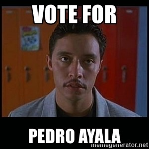 Vote for pedro - VOTE FOR PEDRO AYALA