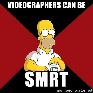 Homer Jay Simpson - Videographers can be SMRT