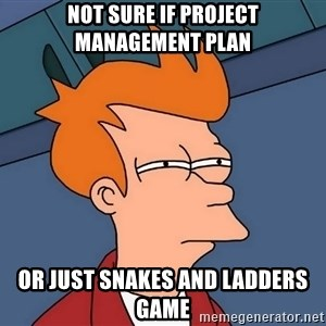 Futurama Fry - Not Sure if Project Management Plan Or Just Snakes and Ladders Game