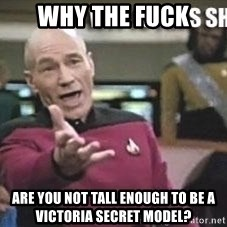 Patrick Stewart WTF - why the fuck are you not tall enough to be a victoria secret model?