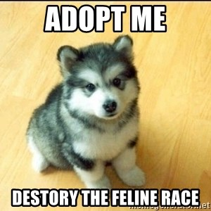 Baby Courage Wolf - adopt me destory the feline race
